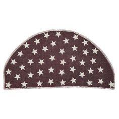 VHC Brands Antique Star Half Circle Rug, Beige