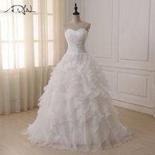 US  57.51 ADLN Cheap Stock Wedding Dresses Vestidos De Novia Sweetheart Organza  Ruffled Plus Size Corset 1c6538b0a86c