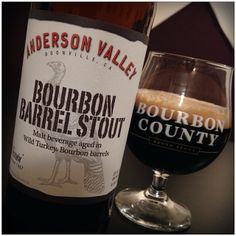 Here s to barrel-aged beer day! @andersonvalleybrewing @Anderson White Valley Brewing Company Bourbon Barrel Stout