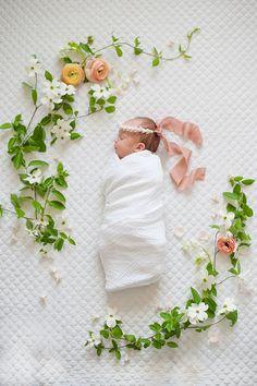 Spring floral newborn photos by Matt