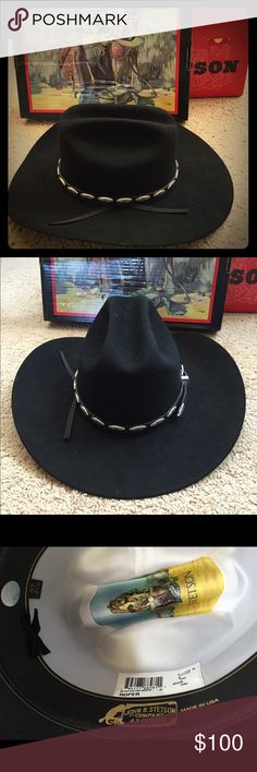 11efdb763ca 🎉HP🎉Black Stetson Cowboy Hat Stetson Roper cowboy hat🔸In excellent  condition-only wore once for a short period of time🔸Still in original box🔸Size  57 7 ...