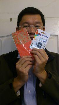 Adata 32G MicroSDHC (CL10) 附轉卡,得標價格1元, 最後贏家矮子標:第一次參加競標, 剛好有我準備要買的記憶卡, 結果下標一元就結標了! 運氣真好,