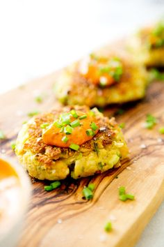 Chickpea Cakes with Harissa Aoili - Sound wonderful and are easy to make ... Gf and vegan