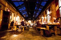 In the heart of New York's Meatpacking District you'll find the German influenced Biergarten at the Standard Hotel, serving 1 litter steins of beer, sausages and pretzels, did I mention they have ping pong?