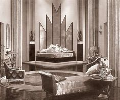 ART DECO~ An influential visual arts design style which first appeared in France during the 1920s, flourished internationally during the 30s and 40s, then waned in the post-World War II era.[1] It is an eclectic style that combines traditional craft motifs with Machine Age imagery and materials. The style is often characterized by rich colors, bold geometric shapes and lavish ornamentation. by adele