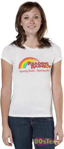 This Reading Rainbow shirt features the logo for the children's show.