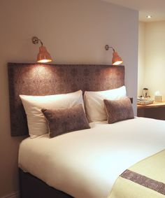 MK1 Wall Lights in Copper, Andover House Hotel, Great Yarmouth