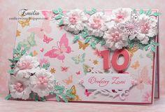 Kartka urodzinowa z motylkami/Birthday card with butterfly