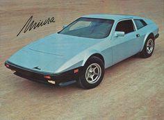 Miura MTS 1982; a fotografia foi extraída de um catálogo da marca. Vw Passat, Classic Sports Cars, Classic Cars, Chevrolet Monza, Br Car, Futuristic Cars, Kit Cars, Sport Cars, Cars And Motorcycles