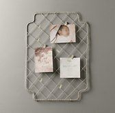 Metal Card Holder | Pinboards & Chalkboards | Restoration Hardware Baby & Child, maybe paint brown?