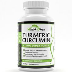 Turmeric Curcumin Pills - 670mg | 95% Curcuminoids - 60 High Purity Capsules - Powerful Anti-inflammatory, Joints Support, Antioxidant - This Easily Absorbed Natural Ayurveda Miracle Boosts Memory, Helps in Digestion, Heart Health and Helps Reduce Acne and Weight Loss - Supplement is GMP Certified - 100% Organic ★ 100% Money Back Guarantee ★ Nutri dime http://www.amazon.com/dp/B00M9F4CHQ/ref=cm_sw_r_pi_dp_essmub1K9Y470