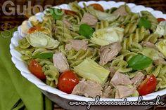 Receita perfeita para o #jantar... É um delicioso e prático Fusilli Integral ao Pesto de Rúcula com Atum!  #Receita aqui: http://www.gulosoesaudavel.com.br/2013/12/03/fusilli-integral-pesto-rucula-atum/
