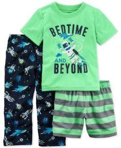Pijama 3 pzas multicolor a) Toddler Boy Fashion, Toddler Boy Outfits, Toddler Boys, Kids Outfits, Kids Fashion, Beach Fashion, Teen Boys, Dress Fashion, Kids Boys