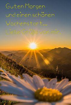 Guten Morgen. Liebe Grüße zum Wochenstart.