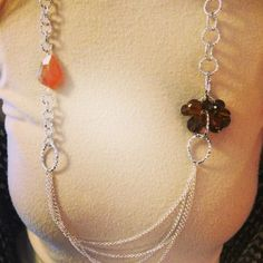 Collana artigianale ambra ed onice miele :) #bijoux #fashion #mode #moda