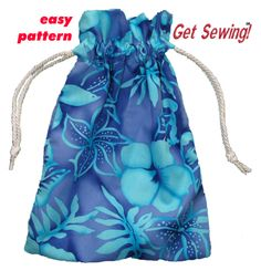 Easy Drawstring Bag sewing pattern for beginners pdf