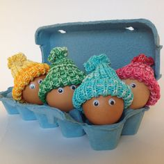 Easter Gift  Knitted Hats for Easter Eggs A set by OlenaExclusive