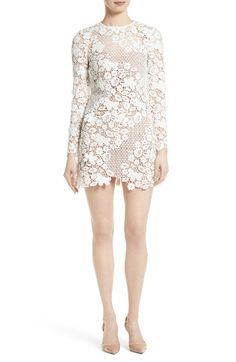 Free shipping and returns on Self-Portrait Lace Minidress at Nordstrom.com. Crafted from a patchwork of three-dimensional guipure lace and dotted mesh for an intricate, feminine look that's come to be synonymous with Self-Portrait, this ethereal minidress is perfect for a rehearsal dinner or winter white party.