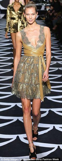 von Furstenberg's New York Fashion Week fall 2014 collection - the wrap dress!