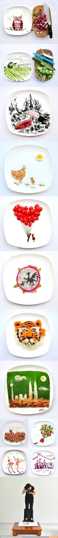 And they say not to play with your food... Psssh