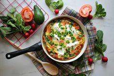 Zdrowe śniadanie dla kilku osób w 15 minut? Sprawdź nasz przepis na frittatę! - Life Gym Hero Frittata, Healthy Recipes, Healthy Food, Health Fitness, Meals, Breakfast, Ethnic Recipes, Kitchen, Adidas