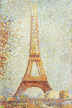 The Eiffel Tower, 1889 -  Georges Seurat