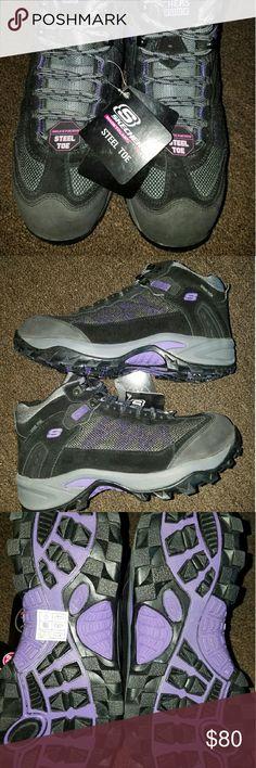 Skechers Steel Toe Work Shoe Women's new, never worn. Size 10. A cute way to be safe. Skechers Shoes Sneakers