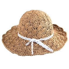 1abd2b78f1d Holly Store Parent-child Beach Hat Women Straw Hat Cap Girls Sun Hat Adult  Brown