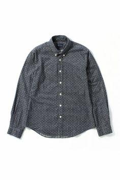 Journal Standard フォールカラービエラドットボタンダウンシャツ
