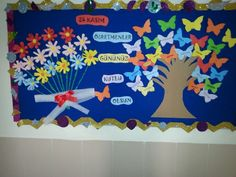 24 KASIM ÖĞRETMENLER GÜNÜ School Wall Decoration, Graduation Theme, Coffee Crafts, Teachers' Day, Space Theme, Art Education, Art For Kids, Origami, Diy And Crafts