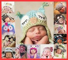 Baby Boy Girl Animal Owl Beanie Child Photo Crochet Knit Costume Hat Cap Prop in Baby, Baby Clothing, Accessories Newborn Baby Photos, Baby Girl Photos, Baby Pictures, Baby Love Quotes, Baby Bug, Costume Hats, Owl Hat, Baby Girl Crochet, Funny Outfits