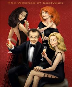 The Witches of Eastwick (1987) ~~ Comedy | Fantasy | Horror ~~ Something wicked this way comes. ~~ Artwork by Nadya Rubcova