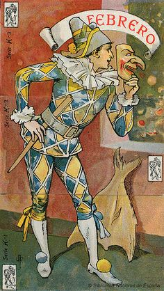 Pierrot, Paper Dolls Clothing, Joker Clown, Art Nouveau, Art Deco, Punch And Judy, Harlequin Pattern, Send In The Clowns, Months In A Year