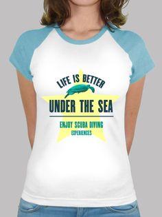 Camiseta Life is Better Under the Sea - Turtle