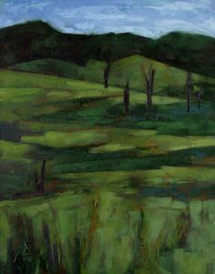 'Green Mosaic' – Oil Painting by Alexandria Levin
