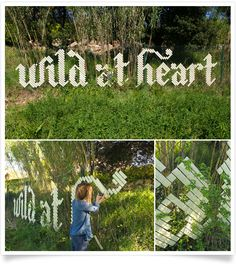 [express] 'Wild at Heart' was created in rural Catalunya, Spain. Garforth used Masking Tape as her material and a wire fence as her grid.