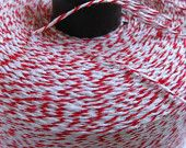 Red and White Cotton Bakers Twine 30 Yards
