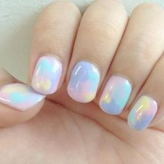 light pastel nails  | See more at http://www.nailsss.com/colorful-nail-designs/2/