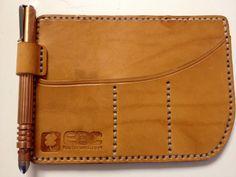 Pocket organizer with pen clip
