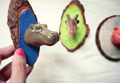 Fun magnets! 10 DIY Animal Heads to Make | Babble