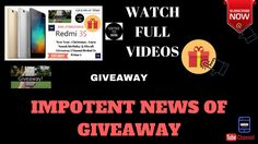 IMPOTENT NEWS OF GIVEAWAY | GIVEAWAY START | HINDI