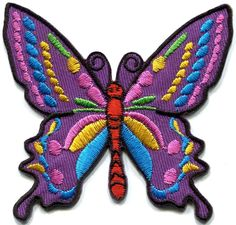 24 Pcs Iron-on Sew-on Embroidered Patch motif Applique  Peace Love Hippie Groovy