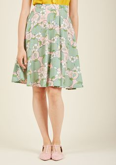 Marvelous Midi Skirt with Pockets in Apples, #ModCloth