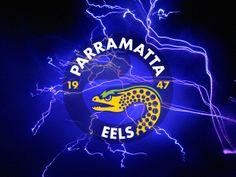 Parramatta Eels Blue Lightning Wallpaper by Sunnyboiiii Red Lightning, Blue Nose Friends, Rugby League, Football Team, Eagles, Fireworks, Neon Signs, Logos, Drawings