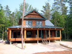 Central Maine Custom Log Homes - Gallery  love it and it isn't even finished