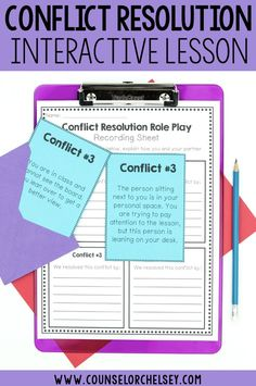 Conflict Resolution Role Play Stations — CounselorChelsey