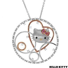 New Hello Kitty 0 1 CTW Sapphire Gold and Sterling Silver Necklace Weight 14 8g | eBay