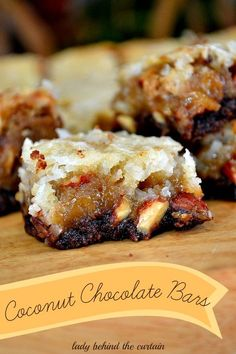 Coconut Chocolate Bars