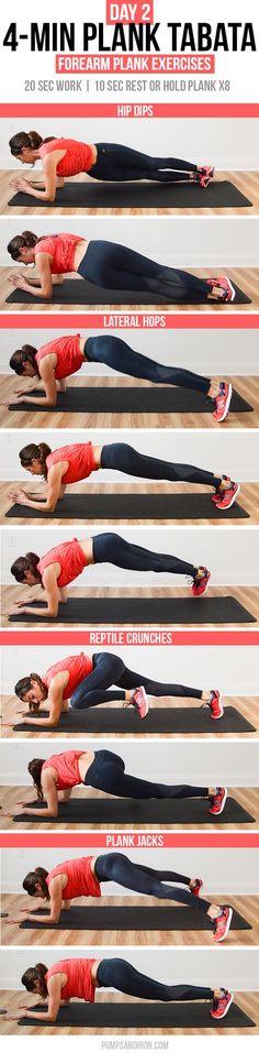 4-Min Plank Tabata Challenge (Day 2): Forearm Plank Exercises