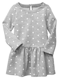 Dot terry dress - Moms and tots are obsessed! Durable mix-and-match knits designed especially for comfort, ease, and fun.